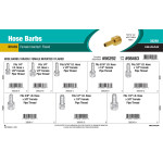 Brass Hose Barbs Assortment (Female Inverted & Flared)