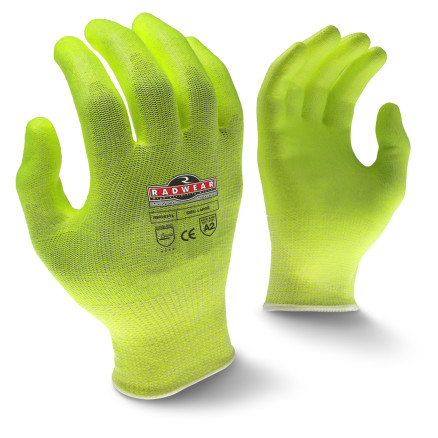 Radians RWG531 Radwear® Silver Series™ Cut Protection Level A2 High Visibility Grip Glove