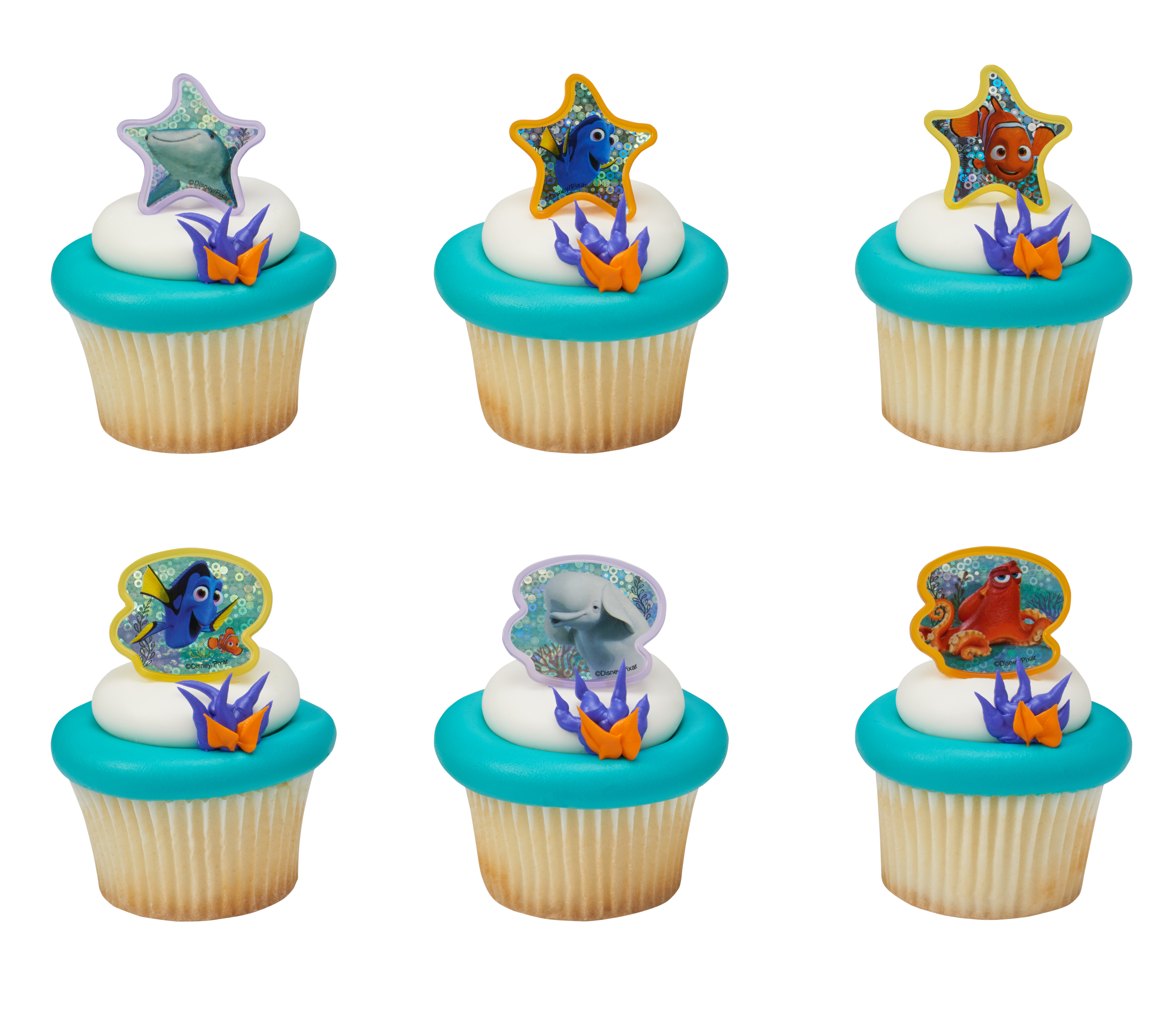 Finding Dory Adventure Is Brewing Cupcake Rings Decopac