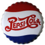 Aluminum Pepsi-Cola Bottle Cap 12in