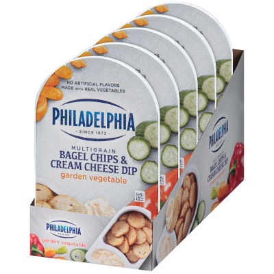 Philadelphia Bagel Chips & Garden Vegetable Cream Cheese Dip 2.5 oz Tray