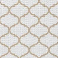 Swatch for Smooth Top® EasyLiner® Brand Shelf Liner - Taupe Quatrefoil, 12 in. x 30 ft.