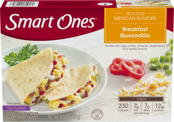Smart Ones Delicious Mexican Flavors Breakfast Quesadilla 8 oz Carton
