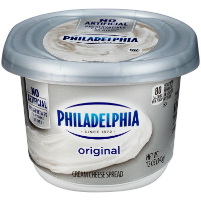 Philadelphia Plain Cream Cheese Spread 12 oz Tub