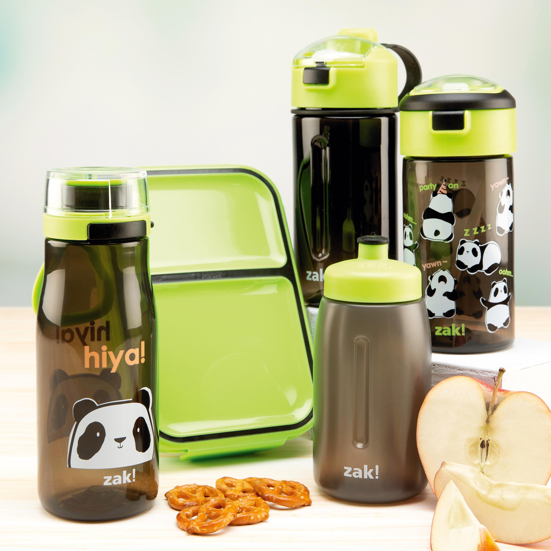 Genesis 18 ounce Water Bottles, Panda, 2-piece set slideshow image 3