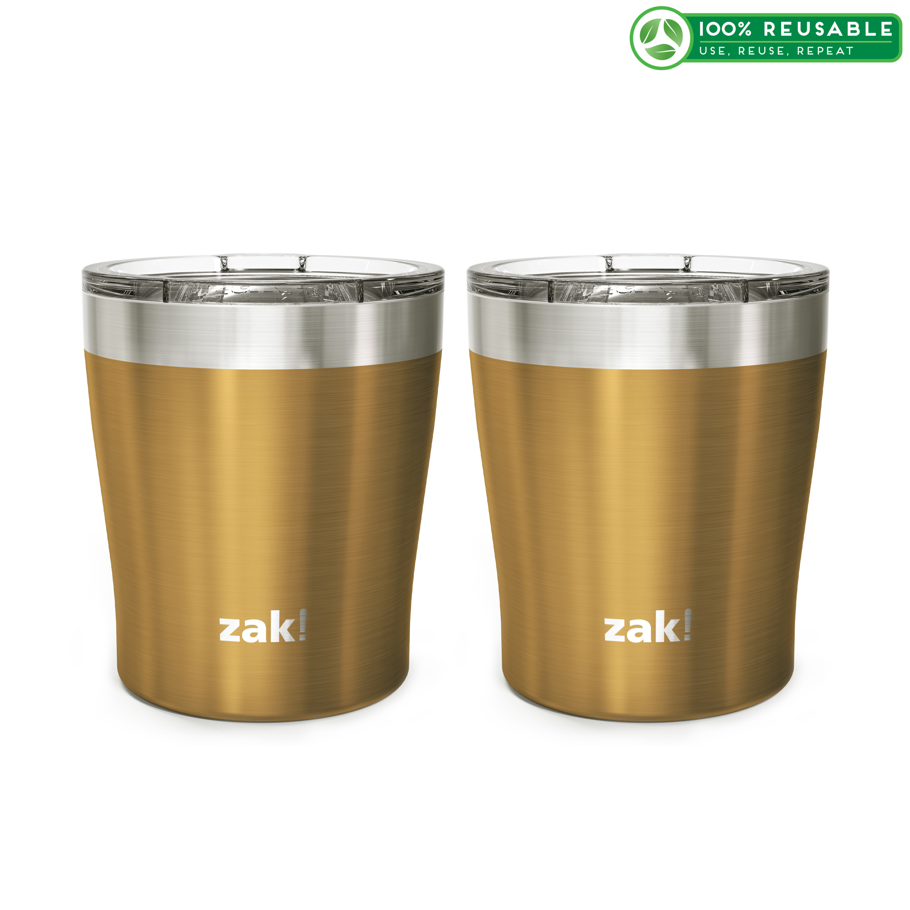 Dayton 10 ounce Vacuum Insulated Stainless Steel Tumbler, Copper, 2-piece set image