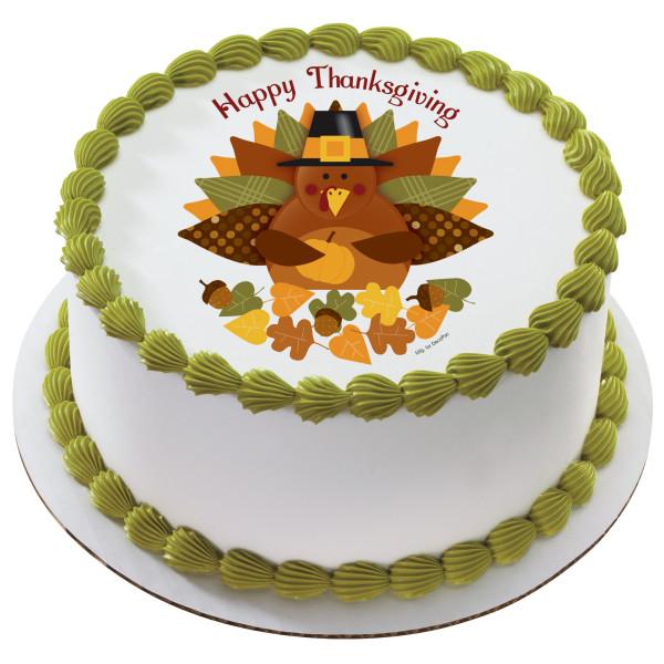 Happy Thanksgiving Turkey PhotoCake® Edible Image®