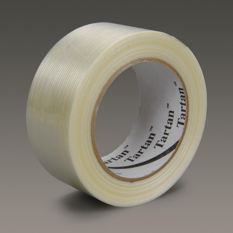 Tartan™ Filament Tape 8932, Clear, 72 mm x 55 m, 3.75 mil, 12 rolls per case