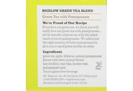 Lifestyle image of a cup of Bigelow Green Tea with Pomegranate