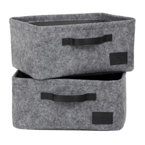Storit - Small Woven Felt Baskets, 2-Pack