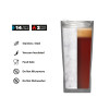 Fractal 16 ounce Vacuum Insulated Stainless Steel  Pint Glass, Black slideshow image 8