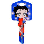 Betty Boop Flash Bulb Key Blank