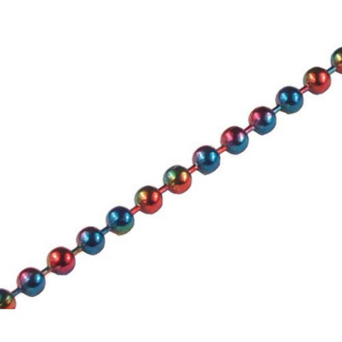 #6 Rainbow Beaded Chain (25')