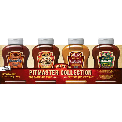 Heinz Pitmaster Collection Sampler Pack BBQ Sauce 4 count Sleeve