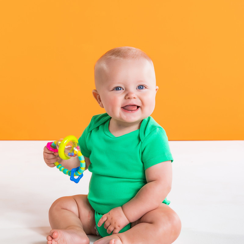 Grab & Spin™ Rattle and Teether Toy