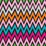 Swatch for Ducklings® Mini Duck Tape® Brand Duct Tape - Zig Zag, .75 in. x 180 in.