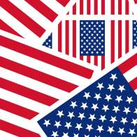 Swatch for Printed Duck Tape® Brand Duct Tape - U.S. Flag, 1.88 in. x 10 yd.