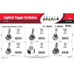 Lighted Toggle Switches Assortment (12 Volts)