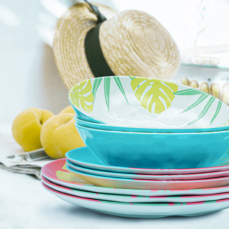 Summer Prints Dinnerware Set, Flamingo, 12-piece set slideshow image 6
