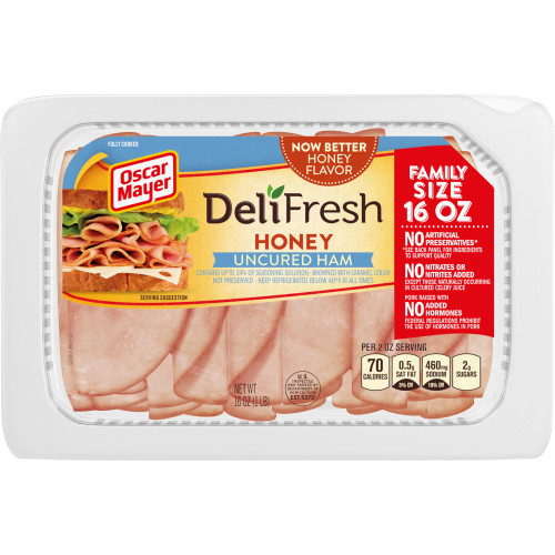 Oscar Mayer Deli Fresh Honey Uncured Ham, 16 oz Package