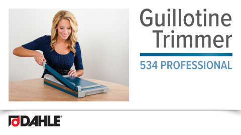 Dahle Professional Guillotine Trimmer Video