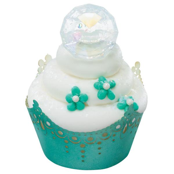 Iridescent Diamond Cupcake Rings