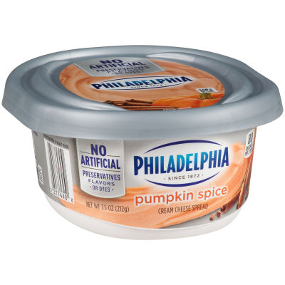 Philadelphia Pumpkin Spice Cream Cheese Spread 8 oz Tub