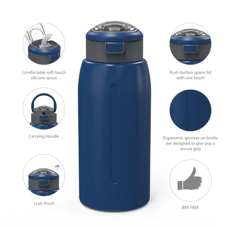 Genesis 32 ounce Stainless Steel Water Bottles, Indigo slideshow image 6