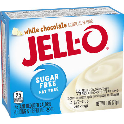 Jell-O White Chocolate Sugar-Free-Fat-Free Instant Pudding & Pie Filling 1 oz Box