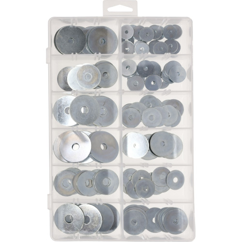 Zinc-Plated Fender Washer Assortment Kit (143-Piece)
