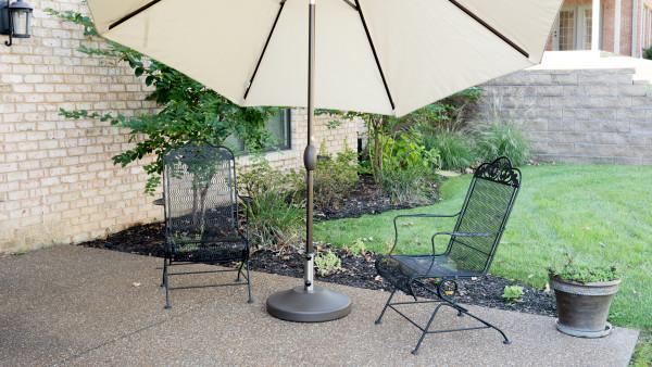 Fillable Free Standing Umbrella Base - Bronze 7