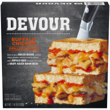 DEVOUR Buffalo Chicken Grilled Cheese Frozen Meal, 7.51 oz Box