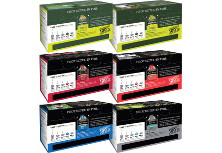 Back panels of Mixed Case of Decaffeinated Teas - 6 boxes