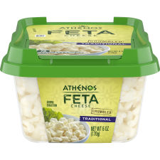 Athenos Crumbled Traditional Feta Cheese 6 oz Tub