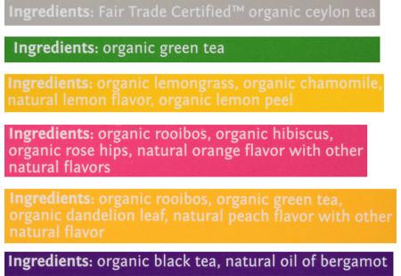 6 Box Assortment of steep by Bigelow teas