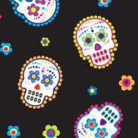 Swatch for Printed Duck Tape® Brand Duct Tape - Sugar Skulls, 1.88 in. x 10 yd.