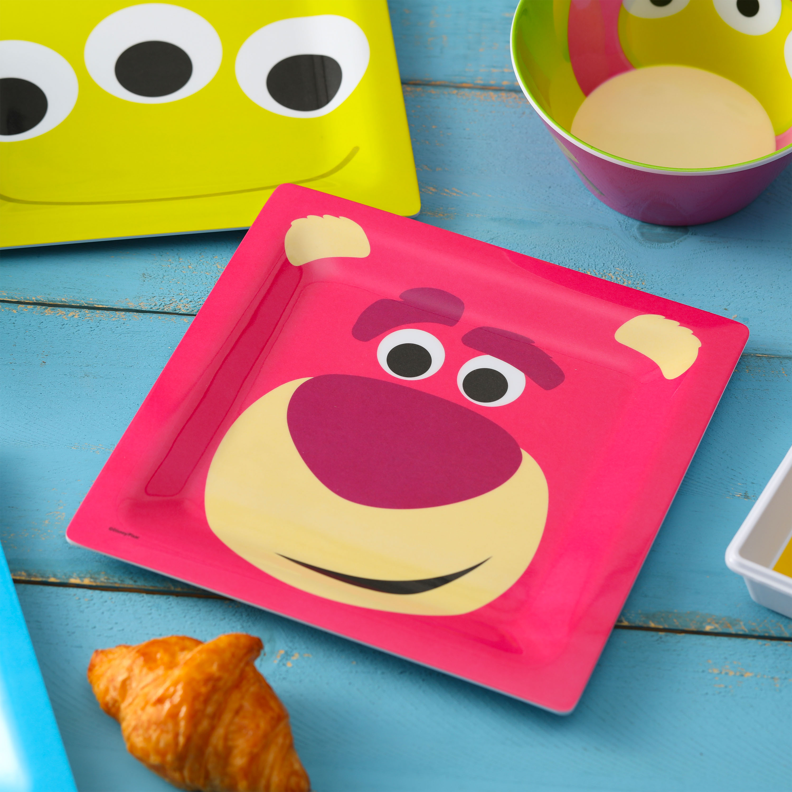Disney and Pixar Toy Story 4 Plate and Bowl Set, Lotso, 2-piece set slideshow image 3