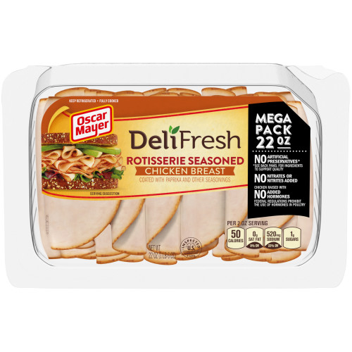 Oscar Mayer Deli Fresh Rotisserie Chicken Breast 22 oz Tray