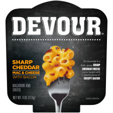 DEVOUR Sharp Cheddar Mac & Cheese with Bacon, 4 oz Bowl