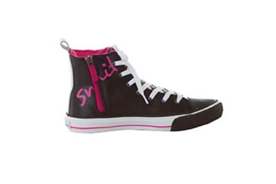Smitten TAKEFLIGHT Sneaker for Women Lightweight Volcanized Slip Resistant Leather Side Zip-