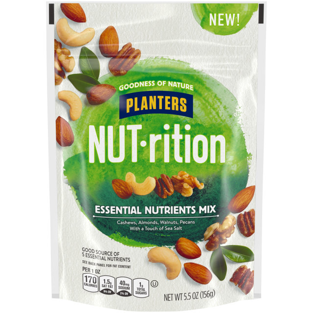 Planters Nutrition Snack Nut Mix Essential Nutrients 5.5 oz Bag