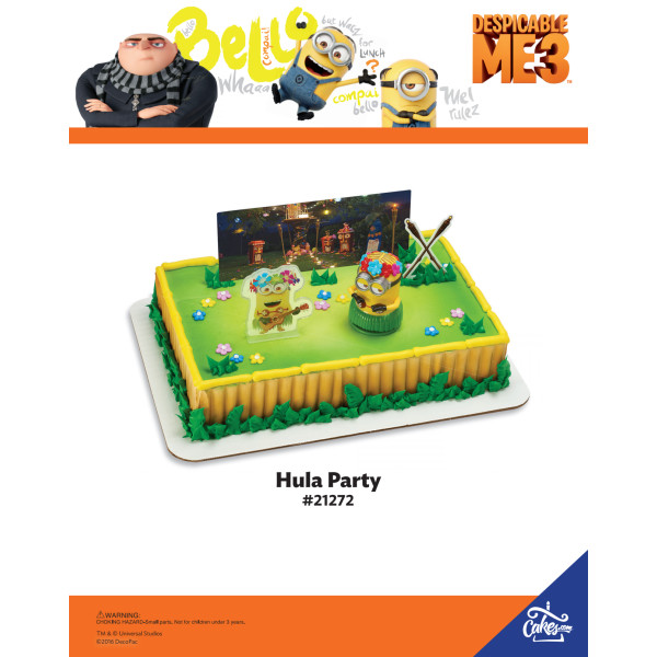 Despicable Me 3™ Let's Party PhotoCake®/Edible Image® The Magic of Cakes® Page