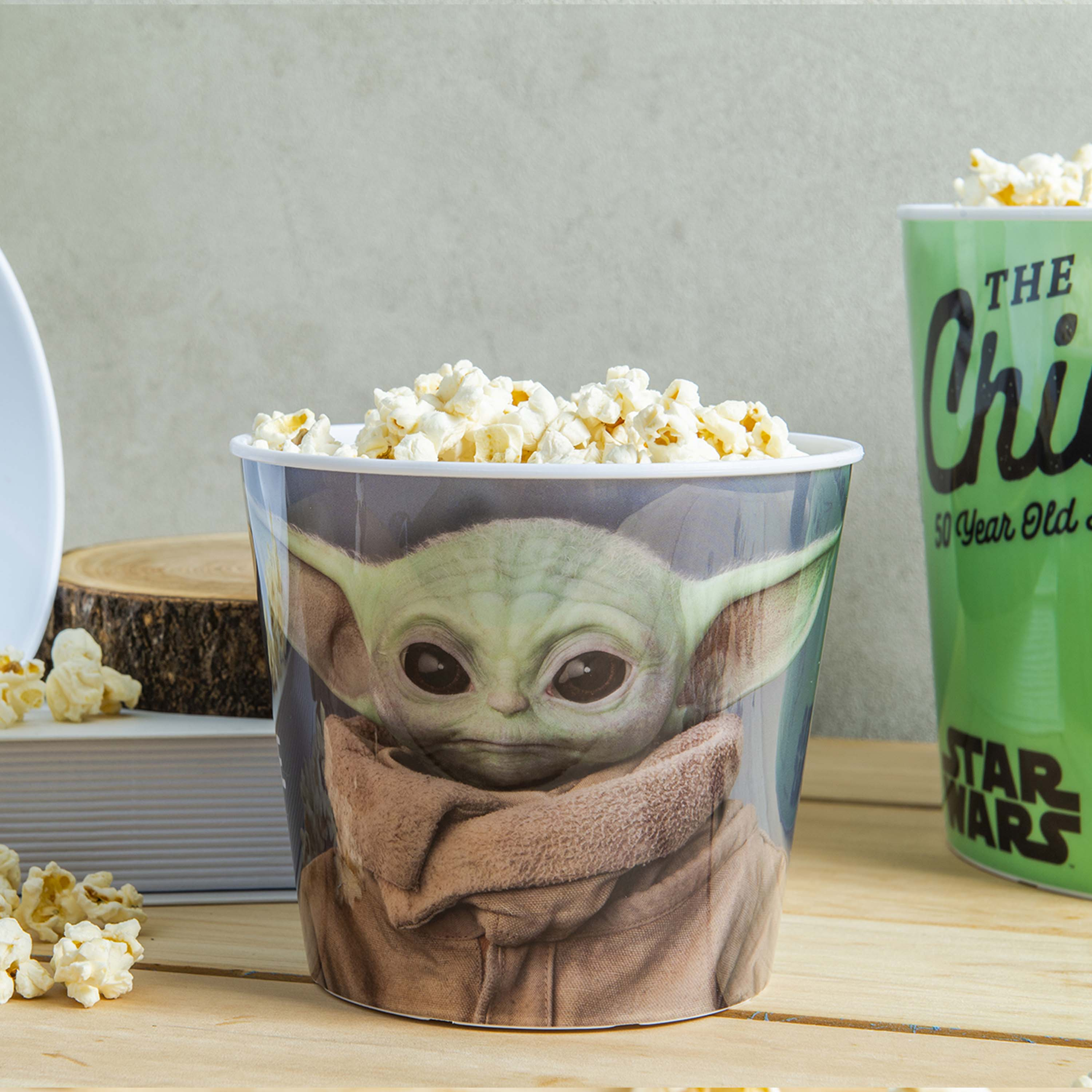 Star Wars: The Mandalorian Plastic Popcorn Container and Bowls, The Child (Baby Yoda), 5-piece set slideshow image 2