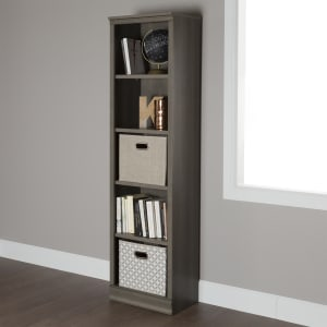 Morgan - 5-Shelf Narrow Bookcase