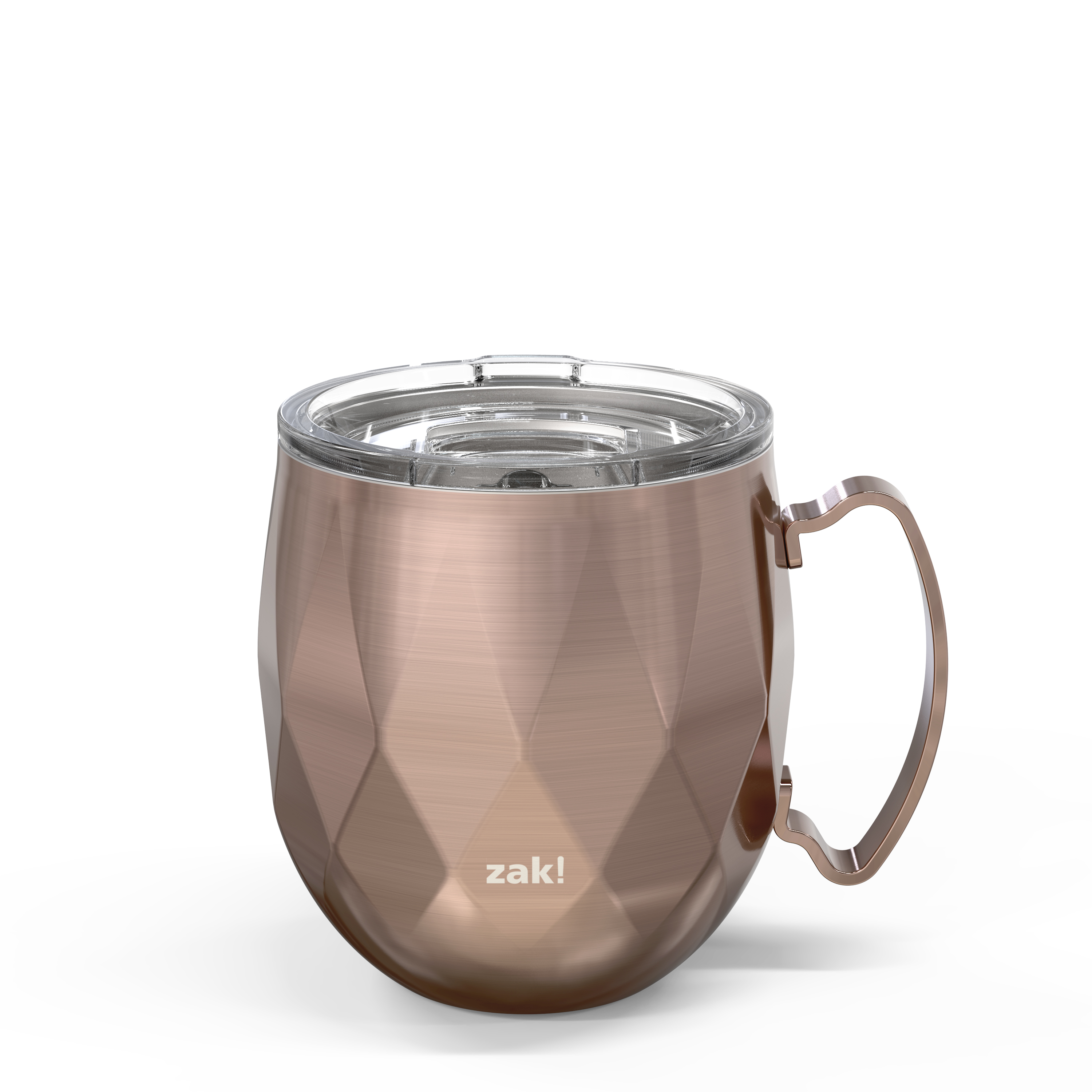 Fractal 19 ounce Vacuum Insulated Stainless Steel Mule Mug, Rose Gold slideshow image 1