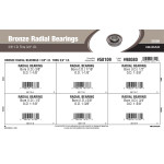"Bronze Radial Bearings Assortment (3/8"" thru 3/4"" Inner Dia.)"