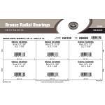 "Radial Bearings Assortment (3/8"" thru 3/4"" Inner Dia.)"
