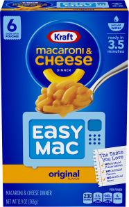 Kraft Easy Mac Original Flavor Macaroni & Cheese Dinner 12.9 oz Box image
