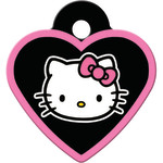 Hello Kitty Black Small Heart Quick-Tag
