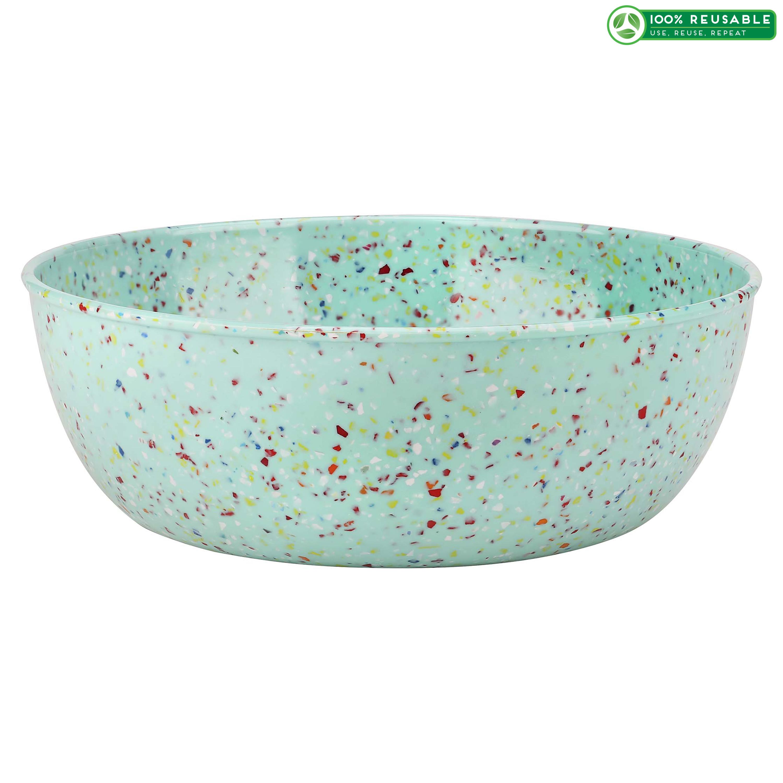 Confetti 3 quart Serving Bowl, Mint slideshow image 1